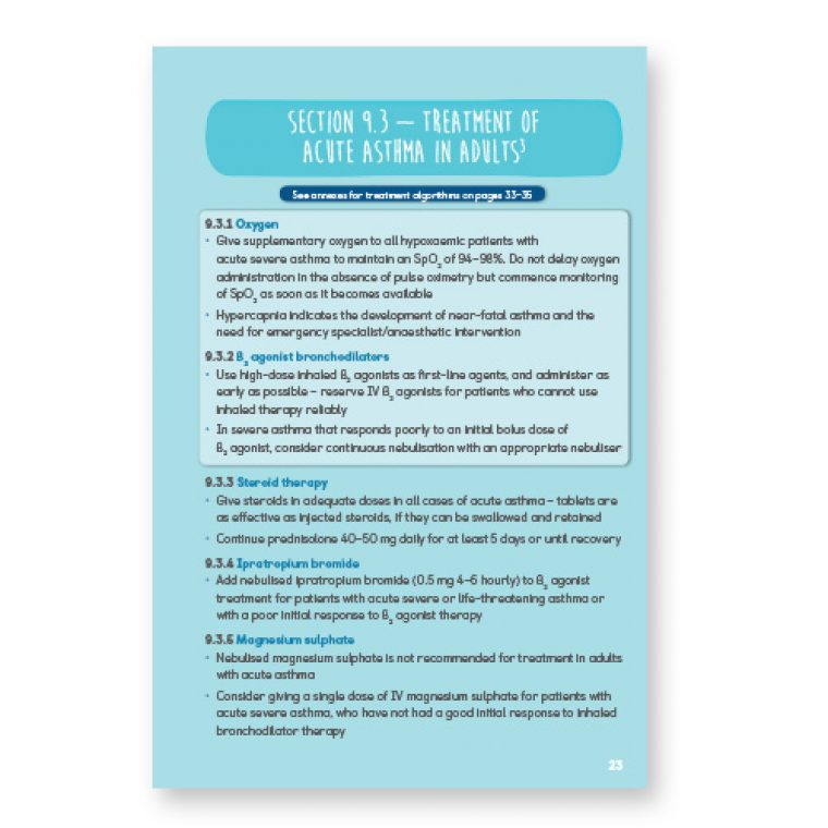 Asthma guidelines